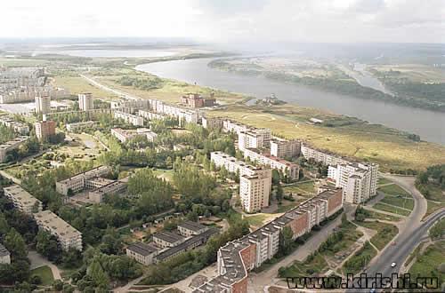 Город Кириши с высоты птичьего