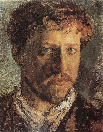 V.A. Serov. Self-portrait.  The 1880s