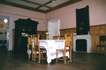 The Izvara country estate. Dining room of the mansion