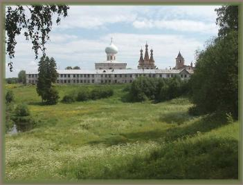 The Lodeynoye Pole district. The Monastery of the Holy Trinity of St. Alexander of  Svirsky