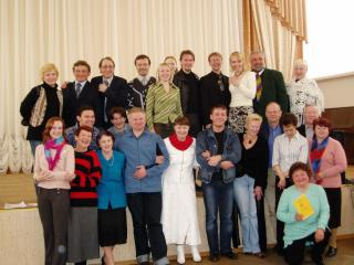 Participants and members of the jury of the oblast festival