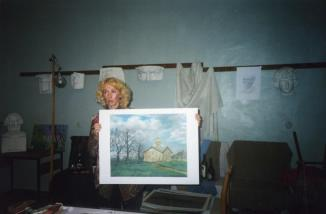 Master-class of teacher of the  Volosovo art school named after N.K. Roerich  I.N. Plotnikova at  the  oblast festival-competition  «Color and Sound of the Power of Roerich». 2001