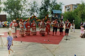 A stage of the oblast folk festival