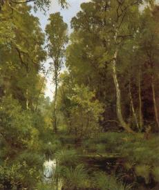 I.I. Shishkin. Old Pond  near the Forest Edge