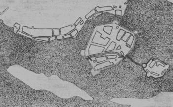 Plan of the Keksgolm Fortress. 1634